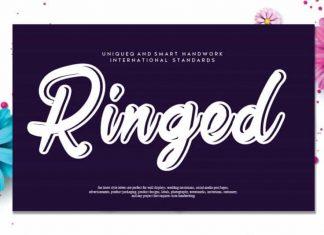 Ringed Script Font