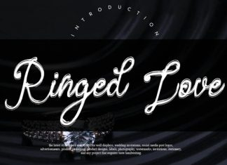 Ringed Love Handwritten Font