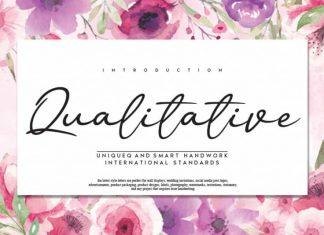 Qualitative Handwritten Font