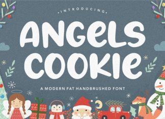 Angels Cookie Modern Fat Handbrushed Font