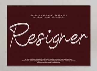 Resigner Handwritten Font