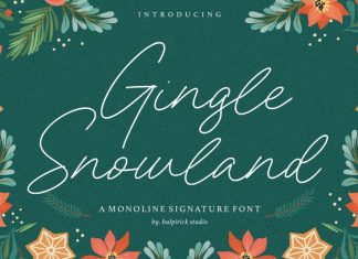 Gingle Snowland Monoline Signature Font