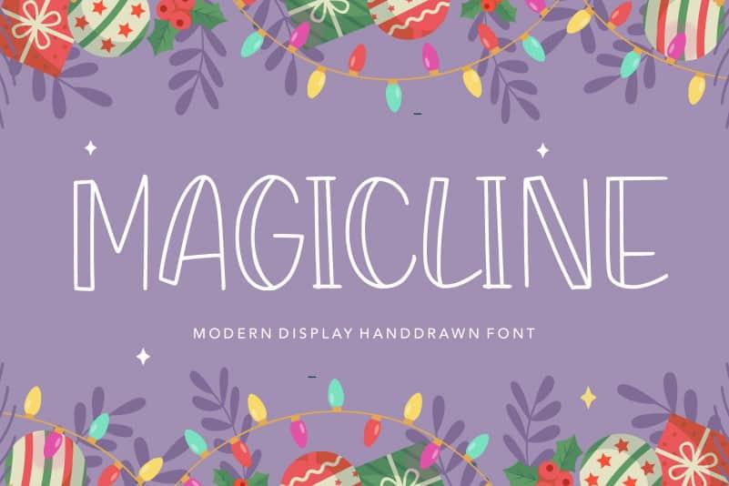 MAGICLINE Modern Display Handdrawn Font