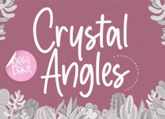 Crystal Angles Modern Monoline Font