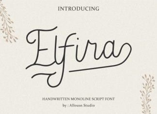 Elfira Monoline Script Font Family