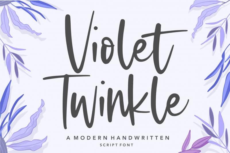 Violet Twinkle Modern Handwritten Script Font