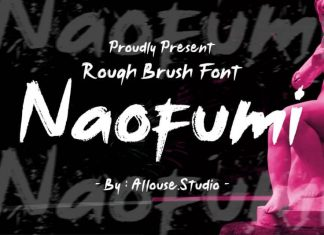 Noufumi Rough Brush Font