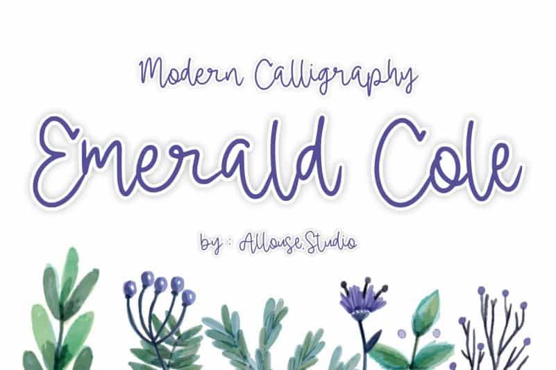 Emerald Calligraphy Font