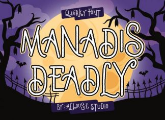Manadis Deadly Display Font