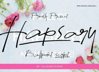 Hapsary Script Font