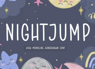 NIGHTJUMP Handdrawn Font