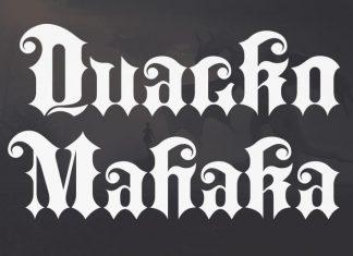 Quacko Mahaka Blackletter Font