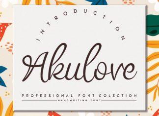 Akulove Script Font