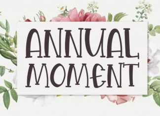 Annual Moment Display Font