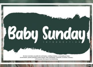 Baby Sunday Display Font