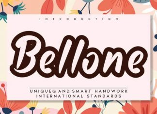 Bellone Display Font