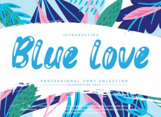 Blue love Display Font