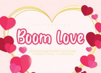 Boom love Display Font