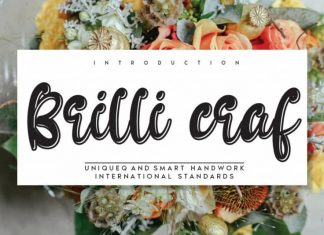 Brilli craf Display Font