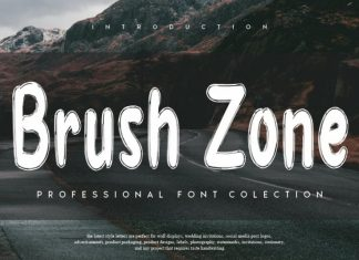 Brush Zone Brush Font