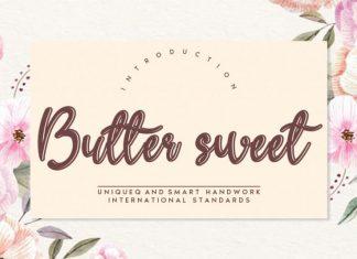 Butter sweet Script Font