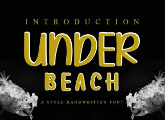 Under Beach Display Font
