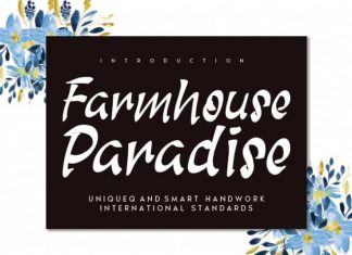 Farmhouse Paradise Brush Font