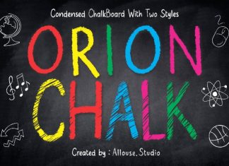 Orion Chalk Display Font