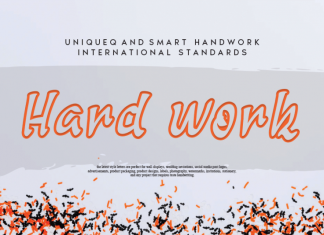 Hard work Display Font