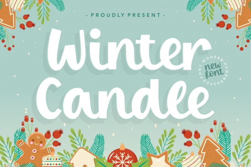 Winter Candle Modern Handbrushed Font