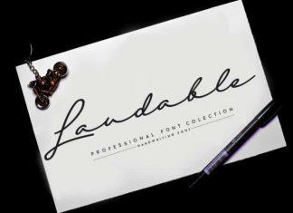 Laudable Script Font