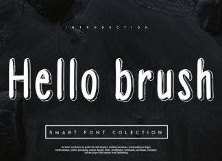 Hello brush Font
