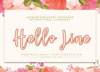 Hello Line Script Font