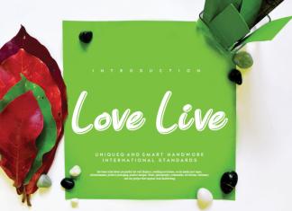 Love Live Display Font