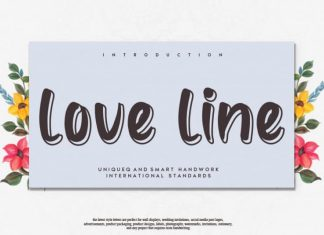 love line Display Font