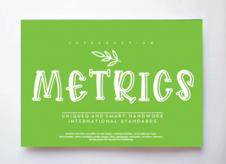 Metrics Display Font