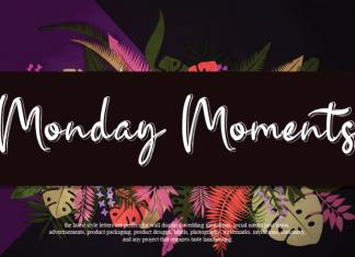 Monday Moments Script Font