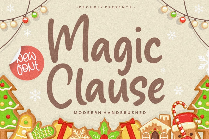 Magic Clause Modern Handbrushed Font
