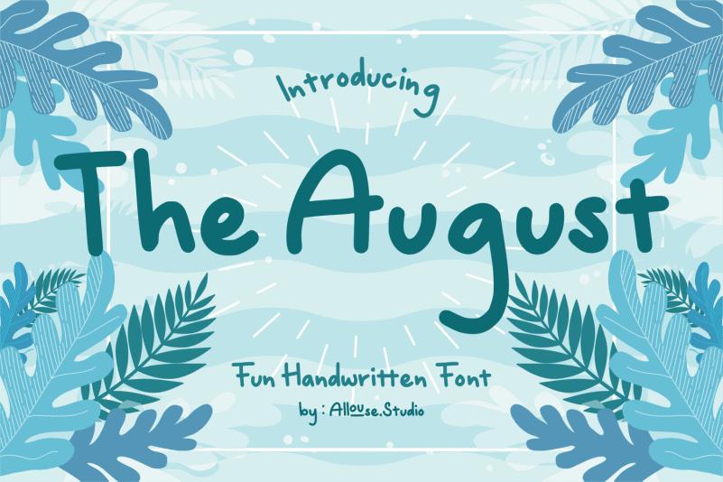 The August Handwritten Font