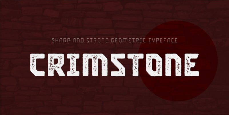 Crimstone Display Font