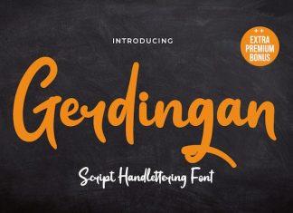 Gerdingan Script Font