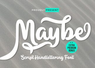 Maybe Script Font