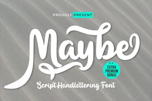 Maybe Script Font
