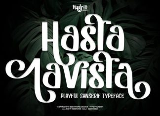 Hasta Lavista Display Font