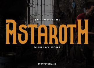 Astaroth Display Font