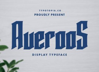 Averoos Display Font