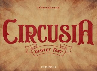 Circusia Vintage Display Font