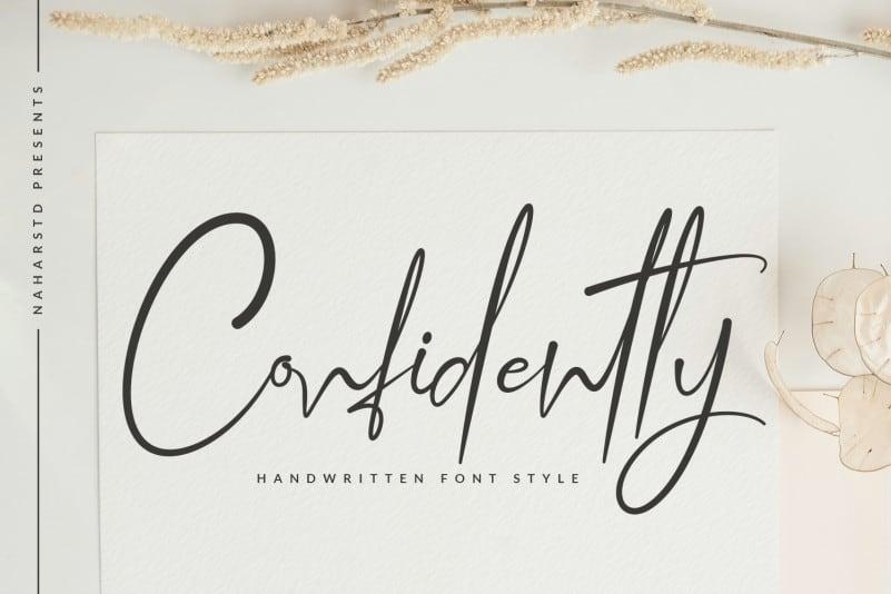 Confidently - Handwritten Font
