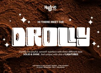 Drolly Display Font