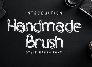Handmade Brush Font